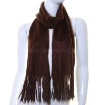 Brown Angora Feel Winter Scarf