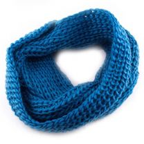 Aqua Chunky Knitted Snood