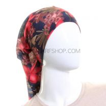 Navy Floral Multifunctional Bandana