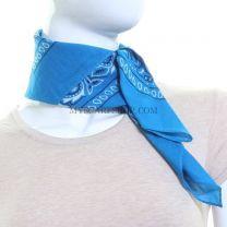 Turquoise Paisley Cotton Bandana