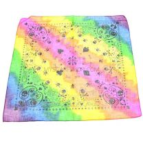Colourful Skull Print Bandana