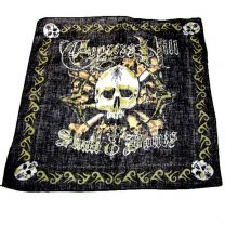 Skull and Bone Cotton Bandana
