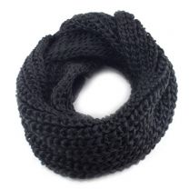 Black Chunky Knitted Snood