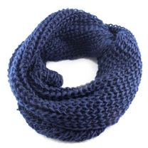Navy Blue Chunky Knitted Snood