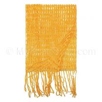 Orange Open Weave Neck Scarf