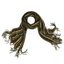 Green Assorted Stripes Wool Scarf