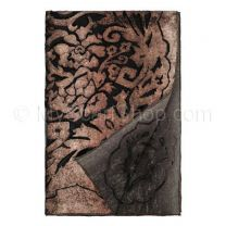 Floral Velvet Shawl (Brown)