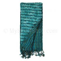 Blue Reversible Pleated Scarf