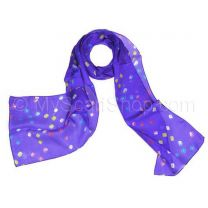 Purple Silk Tie Dye Scarf