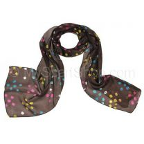Brown Silk Tie Dye Scarf
