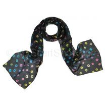 Black Silk Tie Dye Scarf