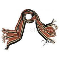 Black Assorted Stripes Wool Scarf