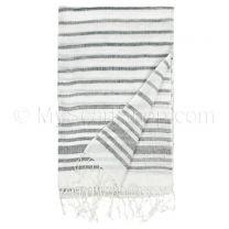Black & White Stripes Summer Pashmina