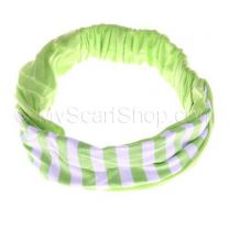 Bright Green Stripes Headwrap