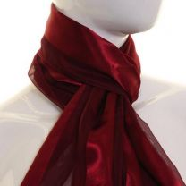 Burgundy Satin Stripe Scarf