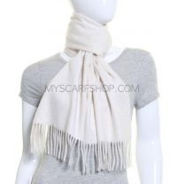 Cashmere Scarf Winter White