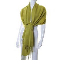 Kiwi Green Luxurious Cashmere Pashmina