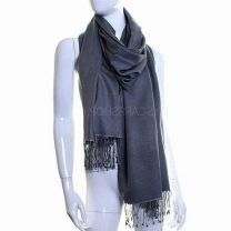 Grey Luxurious Cashmere Pashmina