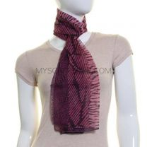 Pink Animal Print Chiffon Neck Scarf