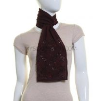 Deep Purple Sequin Georgette Scarf
