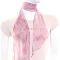 Pink Tie Dye Chiffon Scarf