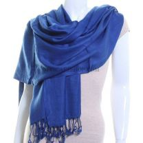 Royal Blue Plain Pashmina