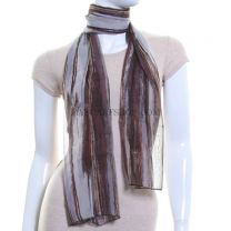 Abstract Vertical Stripes Chiffon Scarf