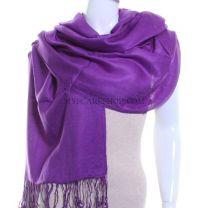 Purple Plain Pashmina