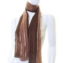 Brown Two Tone Stripe Scarf
