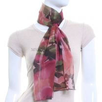 Pink Chiffon Scarf (Abstract Flower)