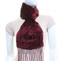 Double Sided Velvet Scarf (Brown)