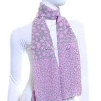 Pink Abstract Dots Chiffon Scarf