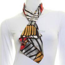 Vintage Art Deco Satin Tie Scarf