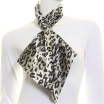 Leopard Print  Satin Tie Scarf
