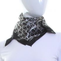 Abstract Rings Square Satin Scarf