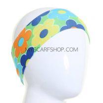 Green Daisies Print Headband