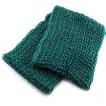 Green Chunky Knitted Snood
