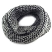 Grey Chunky Knitted Snood