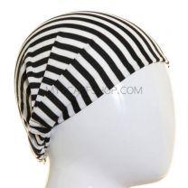 Black and White Stripes Headwrap