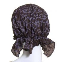 Brown Large Floral Headwrap