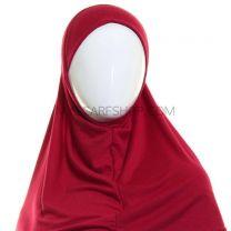 Plain Al Amira Hijab (Maroon)
