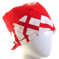 Red England Flags Bandana