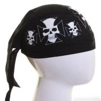 Skull Maltese Cross Cotton Zandana