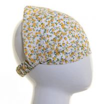 Yellow Small Flowers Cotton Headwrap