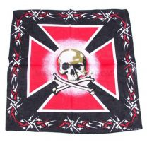 Skull & Maltese Cross Bandana