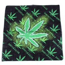 Black & Green Hemp Plant Bandana