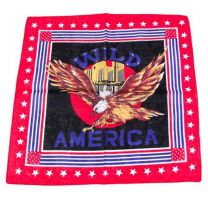 Multicoloured Wild America Eagle Bandana