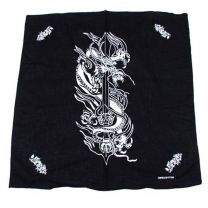 Black Graphic Dragon Bandana