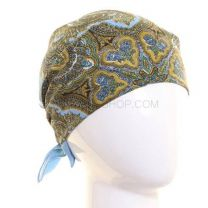 Blue Intricate Paisley Patterned Bandana
