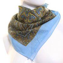 Blue Intricate Paisley Patterned Bandana
